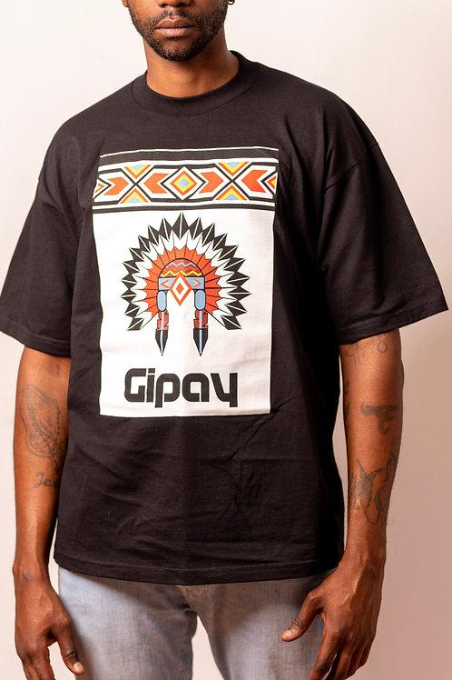 Mens T Shirt Crew Neck   Black