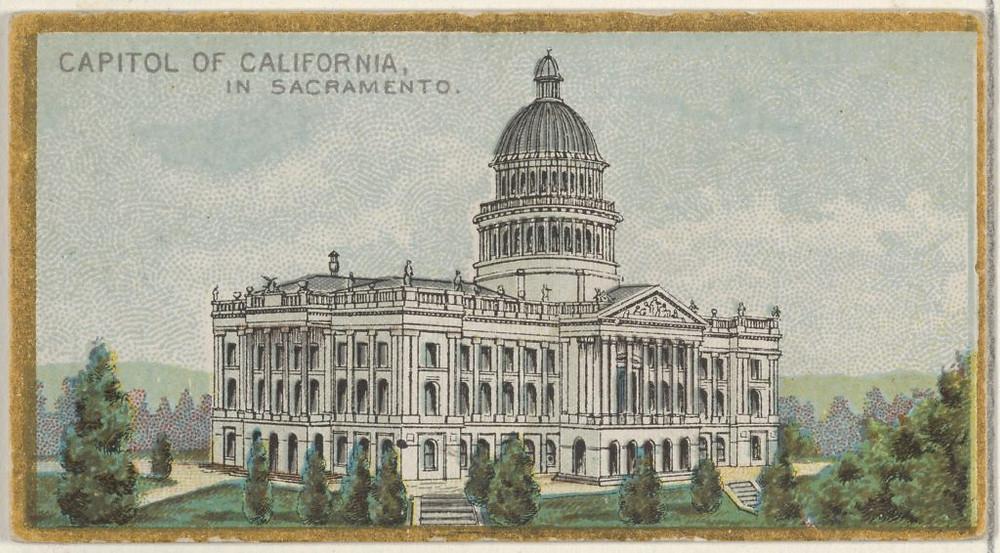 Vintage postcard of California Capitol in Sacramento