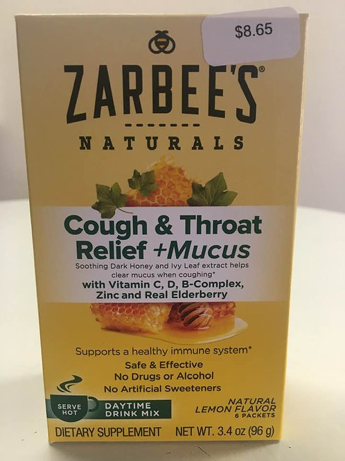 Zarbees Cough & Throat Relief + Mucus