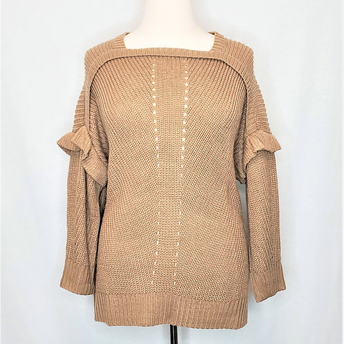 Ruffled Accent Sweater