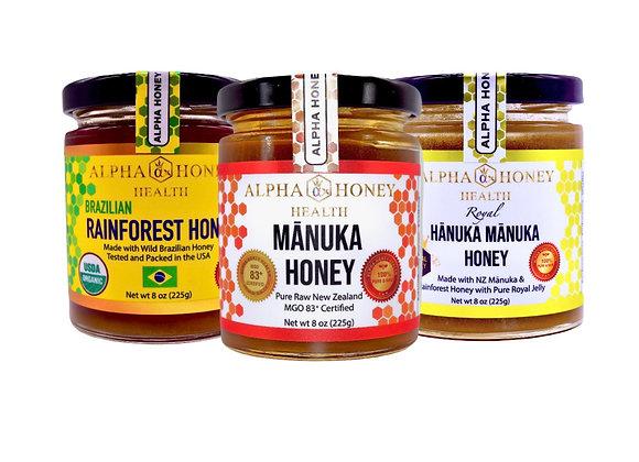 3 Jar Alpha Honey Set