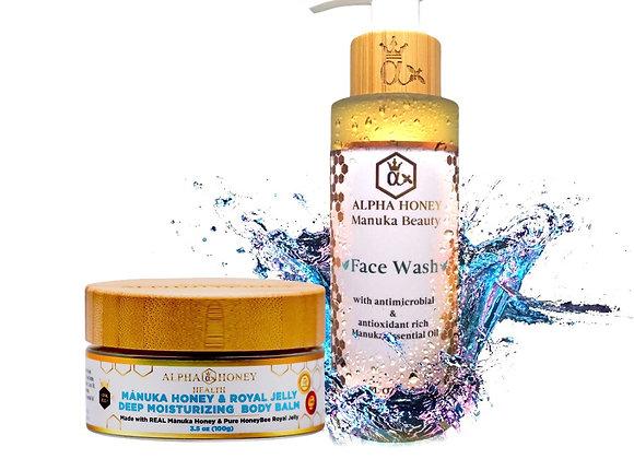 Manuka Oil Antibacterial Face Wash & Body Balm