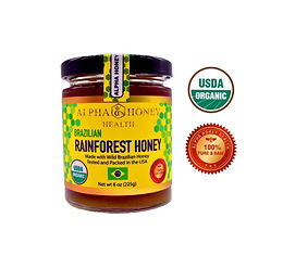 Brand New!!  100% USDA Organic Rainforest Honey from Brazil