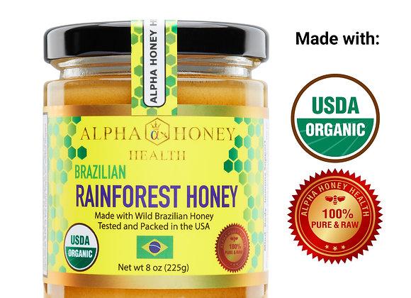 100% USDA Organic Rainforest Honey from Brazil