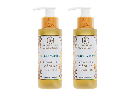 2 Bottle Mix & Match Fragrance: Manuka Oil Antibacterial Face Wash