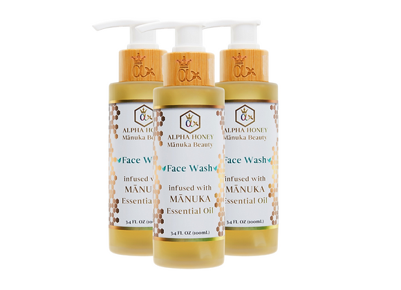 Mix & Match Fragrance 3 Bottle Manuka Oil Antibacterial Face and Body Wash