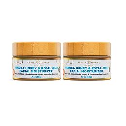 2 Jar Mix & Match Fragrance: Manuka Honey Royal Jelly Serum Moisturizer