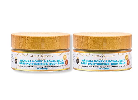 Mix & Match Fragrance: 2 Jar  Manuka Honey & Royal Jelly Body Balm Deep Moisture