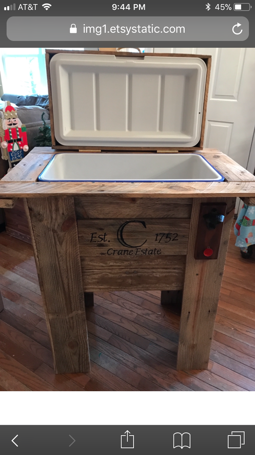 Rustic Wooden Pallet Cooler Personalized And Engraved