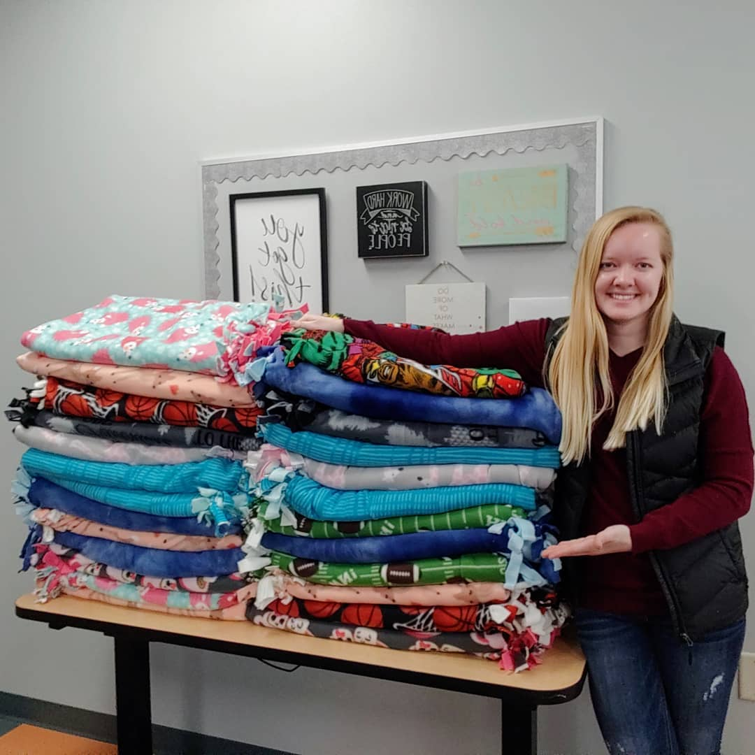 Jenna's Students Blanket Donation