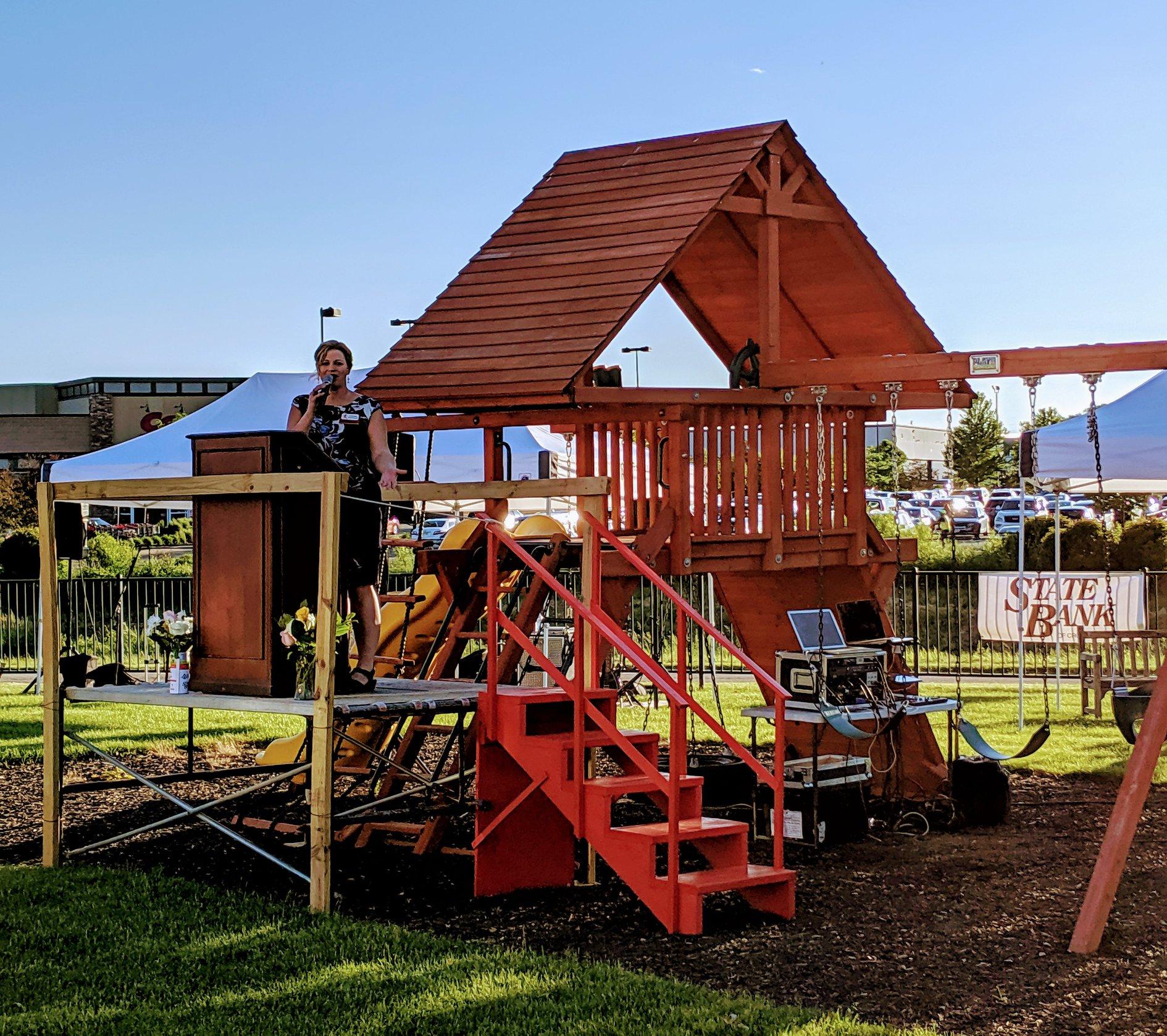 Backyard BBQ Playground Donation