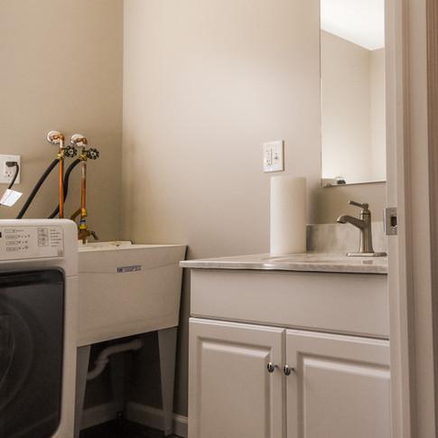 half bath & laundry