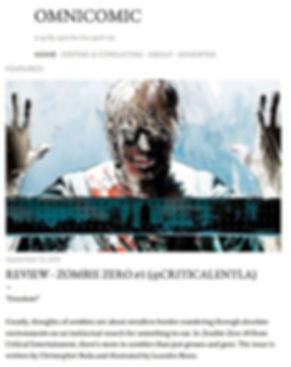 Omnicomic Zombie Zero Review #1 @criticalentla