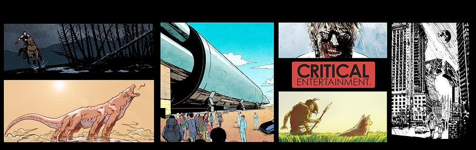 Critical Entertainment LLC Banner Web Comic Book Comic Books