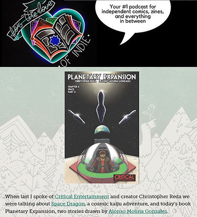 FTL of Indie Planetary Expansion issue 4 and issue 5 review comic book comics