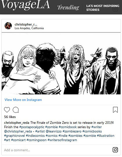 VoyageLA Magazine Christopher Reda Zombie Zero Article Featured Feature