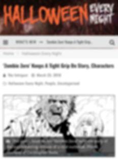 Zombie Zero Halloween Every Night Article Interview