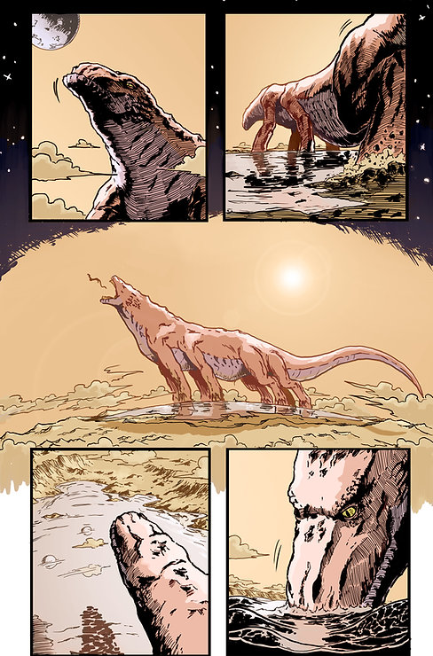 Space Dragon Comic Book Graphic Novel