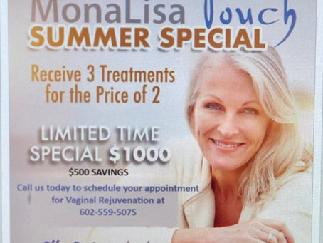 Vaginal rejuvenation special this summer only a few weeks left book your appointment now!