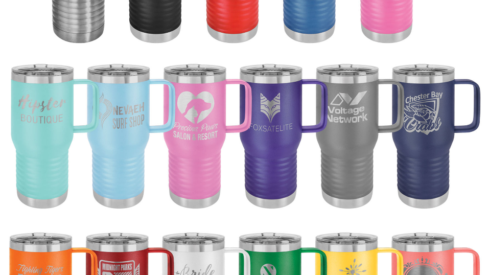 20oz travel coffee mug with slider lid