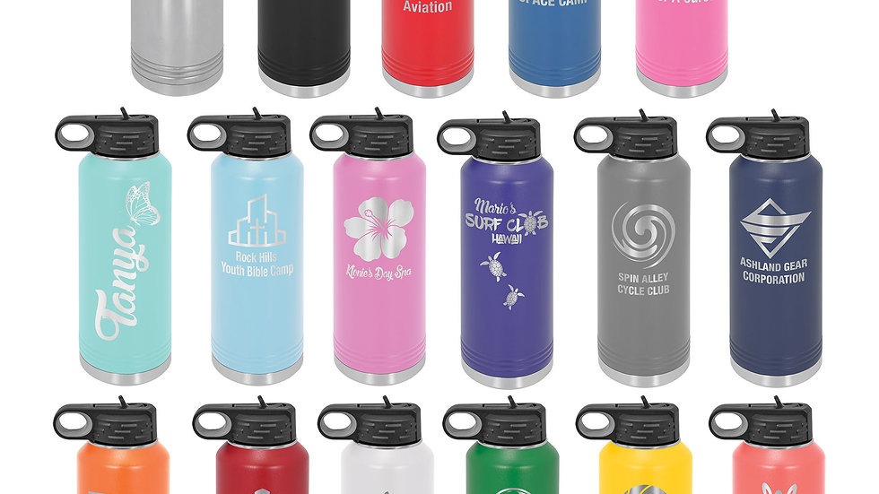 40oz insulated water bottle with sports lid