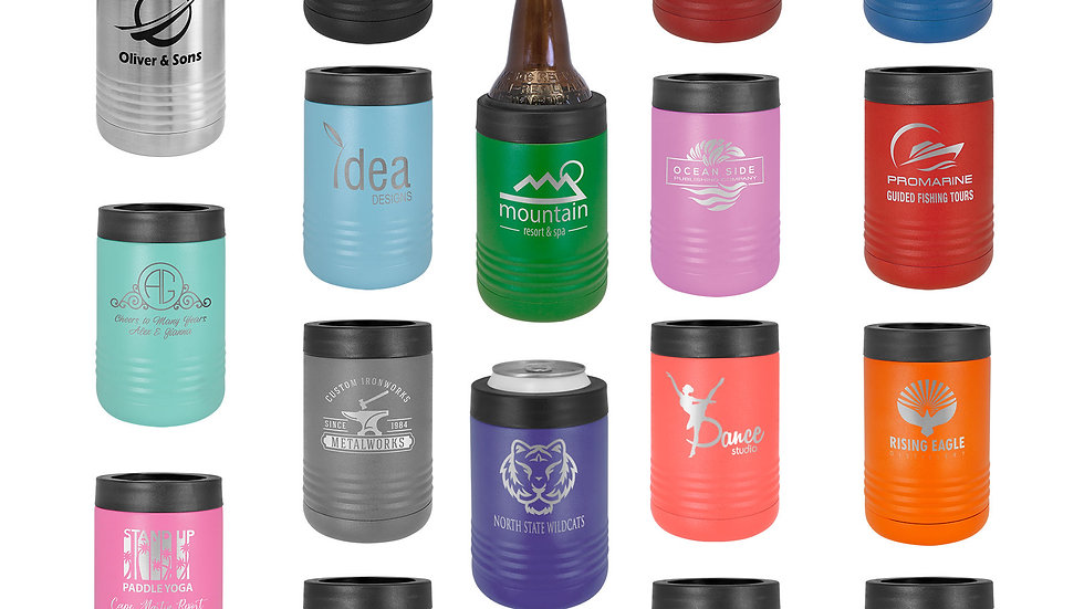 12oz. reg can and bottle koozie. standard engraving included