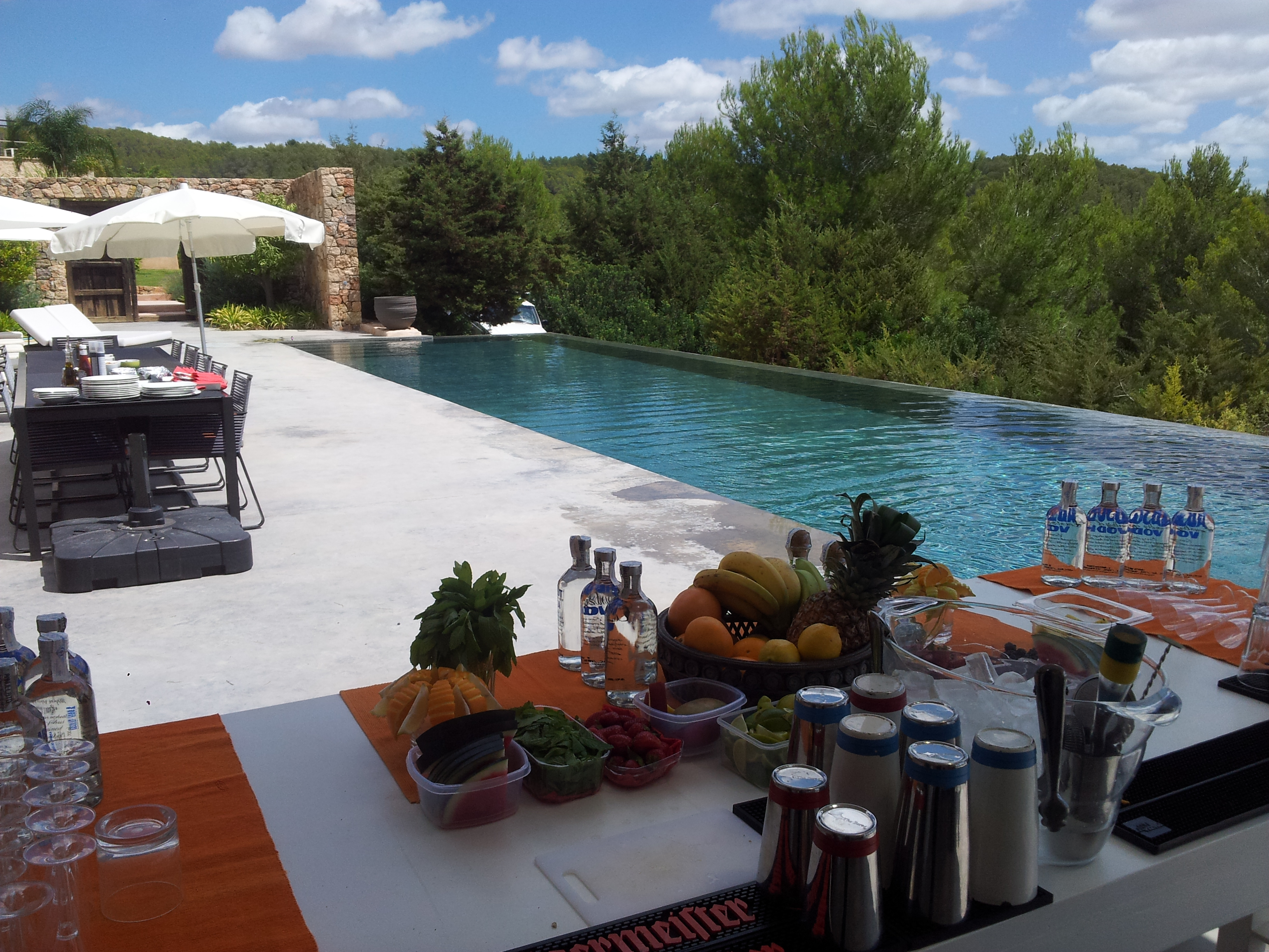 Bar catering in Ibiza open bar service Ibiza Flair Bar Academy