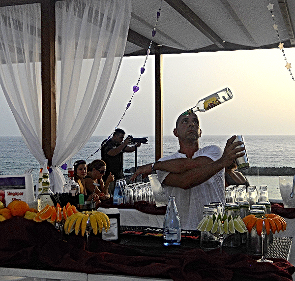 Cocktail Bar catering in Ibiza, bar service in Ibiza and Formentera