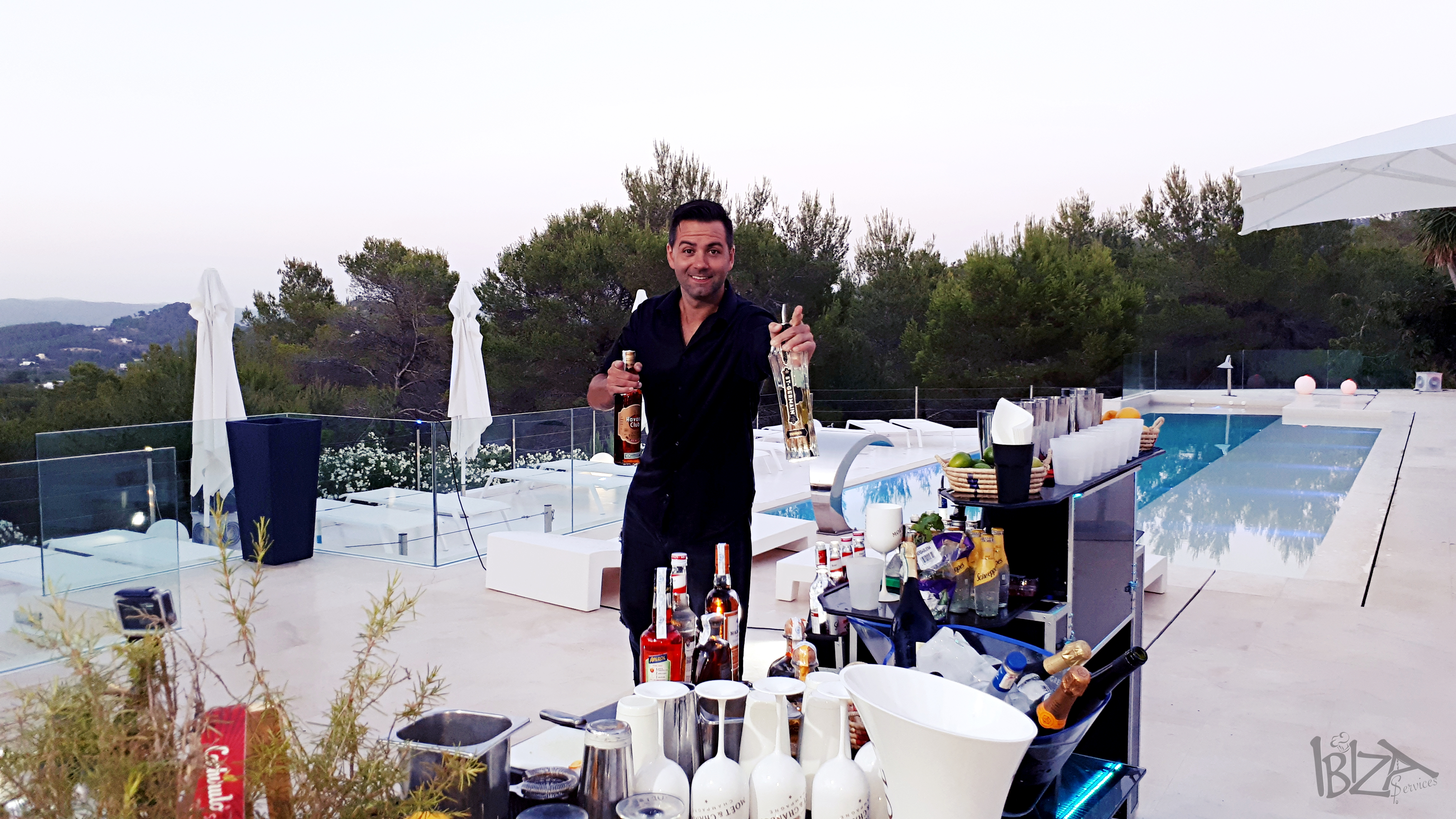 Catering Ibiza, Open bar service, privat
