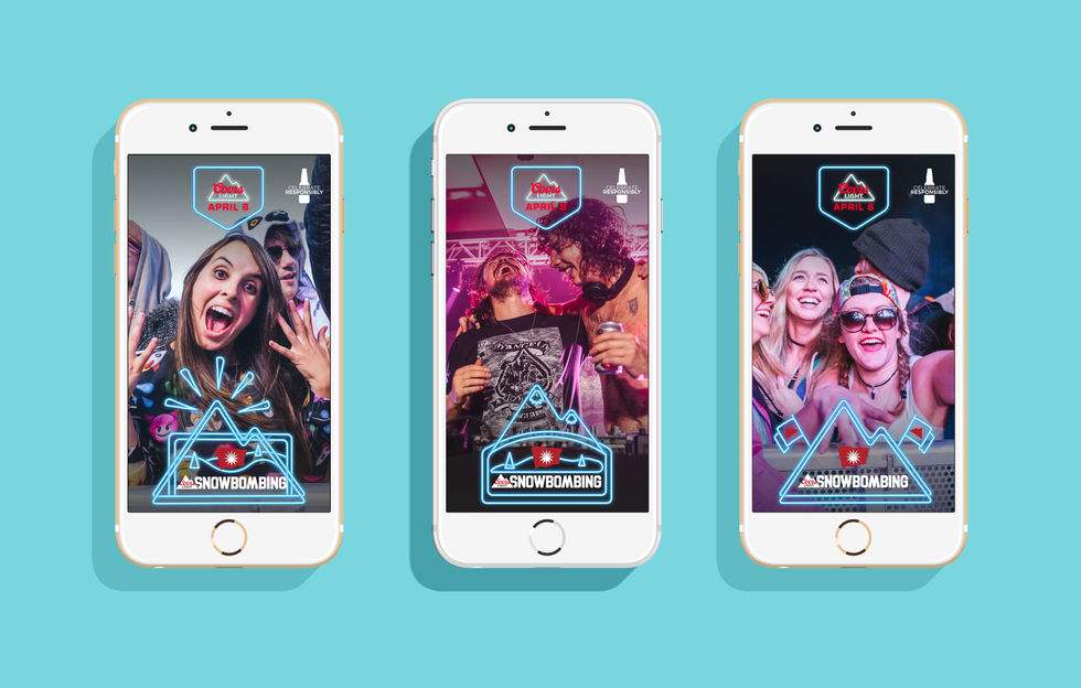 Coors Light Snapchat Filter