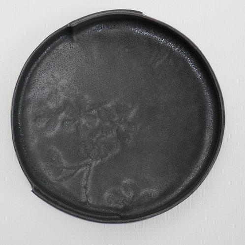 Black stoneware plate - small (12.5cm x 2cm)