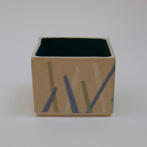 Rectangular pot - (10cm d x 9cm w x 8cm h)