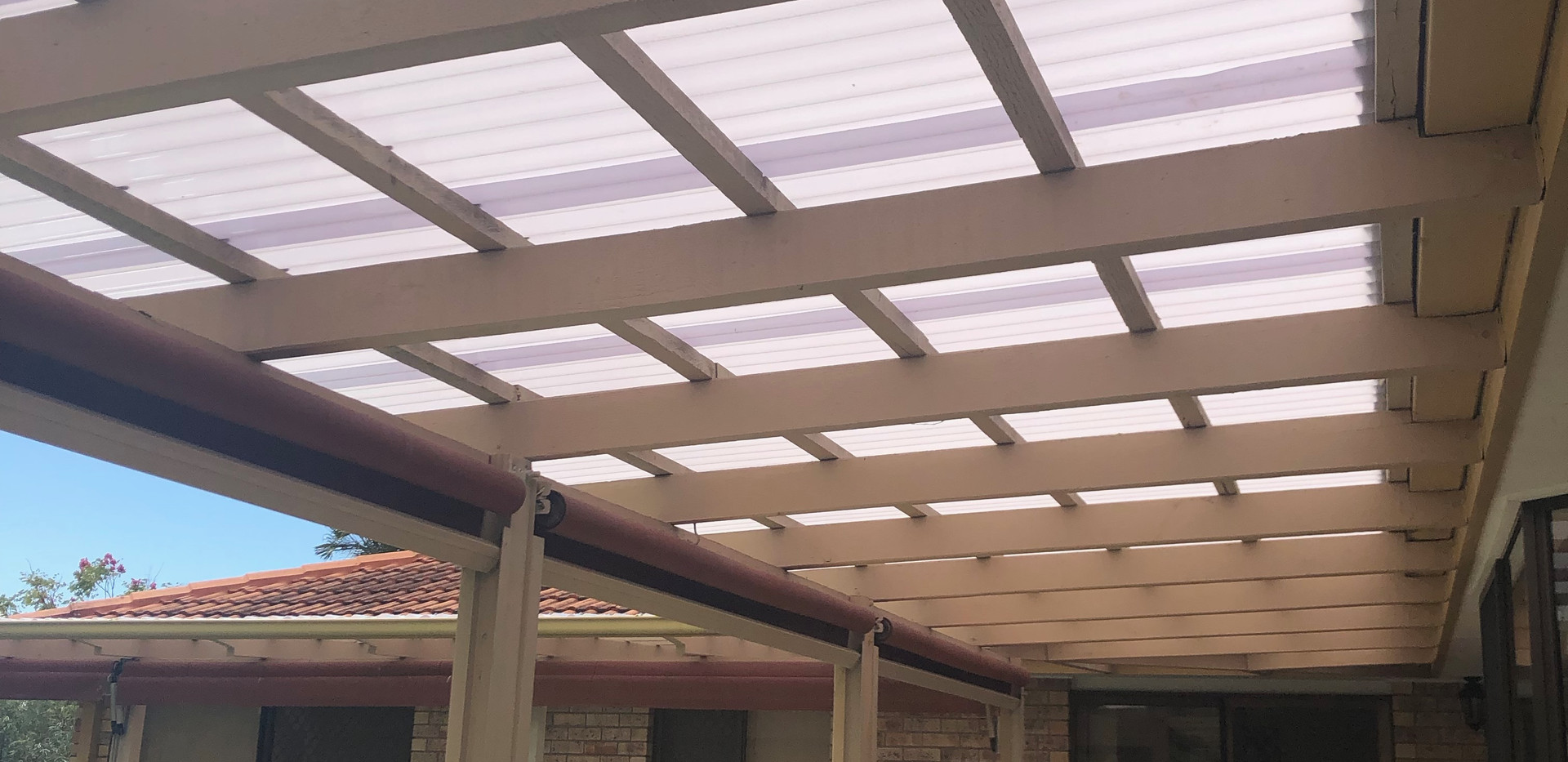Underside of new roof relacement
