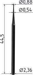 Боры Delta Kits карбидные с шарообразным наконечником HP2S