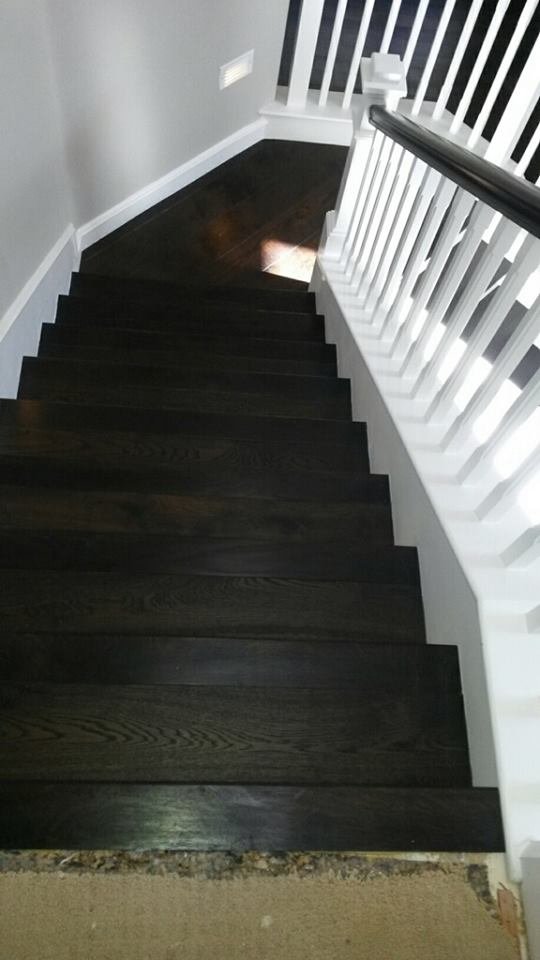 Hardwood Installation stairs