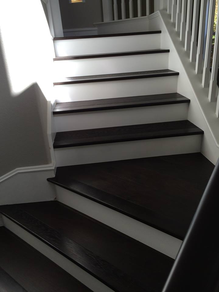 Stairs hardwood installation