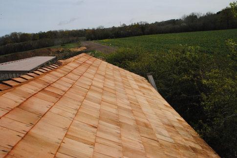 Cedar shingle roof