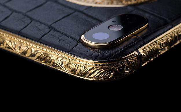 iPhone X Gold 24k Premium Hand Engraved