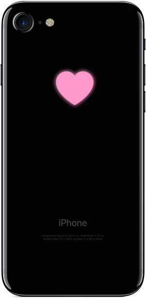 iPhone-7-jetblack-pink-heart-modding