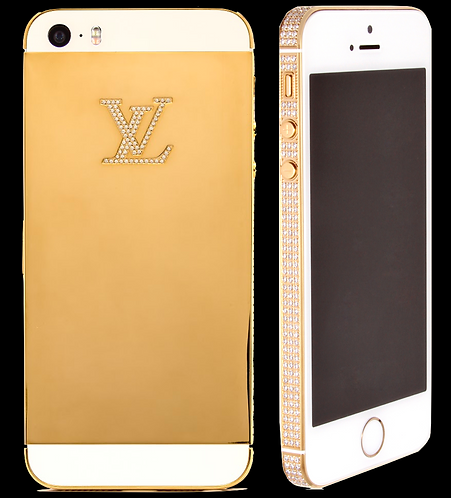 iPhone SE Swarovski Gold White