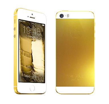 Покрытие золотом вашего iPhone 5S Gold, Silver
