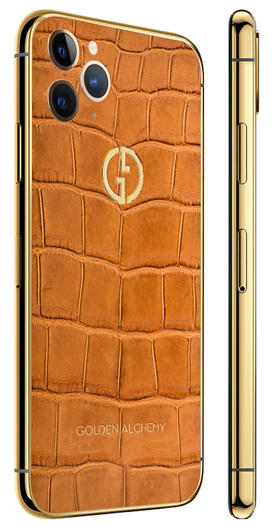 iPhone 11 Pro Gold Barenia Alligator