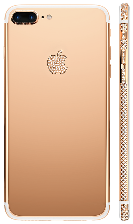 iPhone 7+ Swarovski Rose Gold 18k