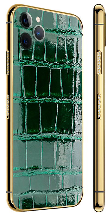 11 Pro Gold Diamond Green Glazed Exotique