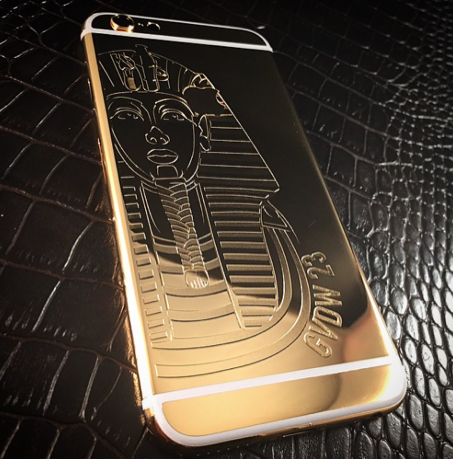iPhone 6S gold 24k engraved