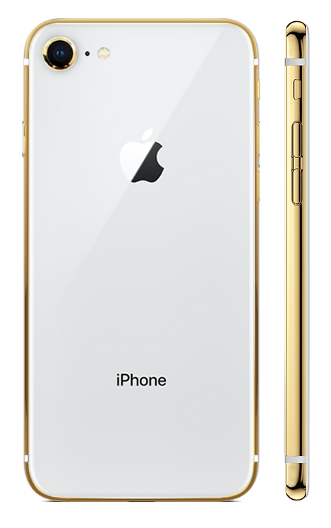 iPhone 8 Gold 24k Белый