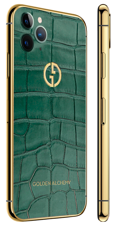 iPhone 11 Pro Gold Green Alligator