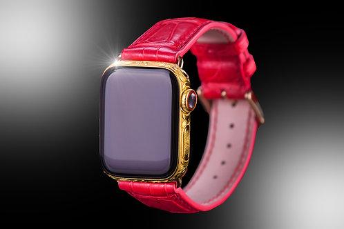 Apple Watch S5 Gold Diamond Hand Engraved