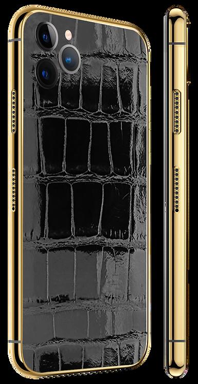 11 Pro Gold Diamond Black Glazed Exotique