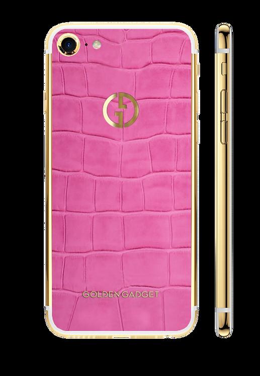 iPhone 8 Gold 24k Pink Alligator